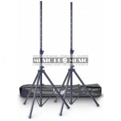 Stagg SPS10-AL-BK-SET - 2 Pieds en aluminium pour enceintes avec housse de transport