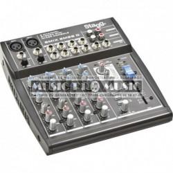 Stagg SMIX-2M2S-D-EU - Mixette 2 XLR + 2 stéréo avec effets