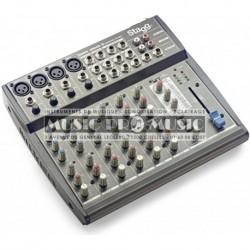 Stagg SMIX-4M4S-D-EU - Mixette 4 XLR + 4 stéréo avec effets
