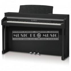 Kawai CA-97B - Piano numérique noir satiné avec meuble