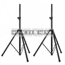 Music Pro Music SS001-BK - 2 Pieds en aluminium pour enceintes avec housse de transport