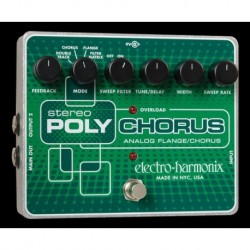 Electro-Harmonix EHXPOLY - Pédale d'effet multi-modulation Stereo Polychorus