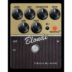Tech 21 T21CS-BL - Pédale d'effet préampli Character Blonde V2