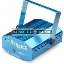Stagg SLR-LITE-12-2BL - Effet laser compact + télécommande