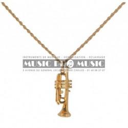 Pick Boy DMP-14-TR - Pendentif doré trompette