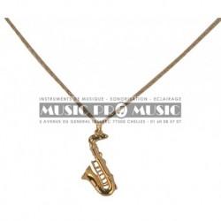 Pick Boy DMP-14-SX - Pendentif doré saxophone