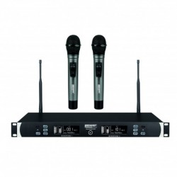 Power Acoustics WM-6000MH - Double micro mains UHF sans fil