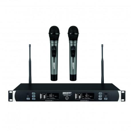 Power Acoustics WM-6000MH - Double micro mains UHF sans fil