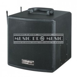 Power Acoustics BE-3400-PT - Sonorisation portable sur batterie 200w + 2 micros sans fil et lecteur mp3
