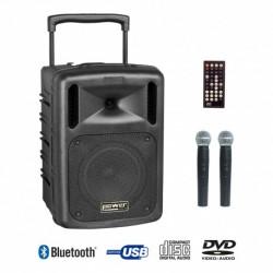Power Acoustics BE 9610 ABS - Sonorisation portable sur batterie 200w + 2 micros sans fil et lecteur mp3