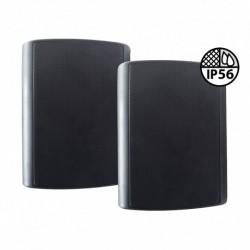 Definitive Audio B 106 BLACK IP56 - Enceinte extérieure noire 80W - Livré par paire