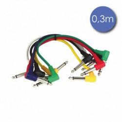 Power Acoustics CAB-2053 - Câble 0,3m - JACK COUDE MONO Mâle - JACK COUDE MONO Mâle
