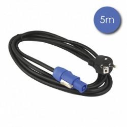 Power Acoustics CAB 2207 - Câble 5m - POWERCON Mâle - Prise électrique