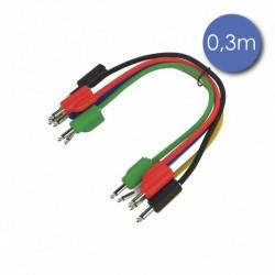 Power Acoustics CAB_2211 - Câble 0,3m - MINI JACK MONO Mâle - GIGOGNE Femelle