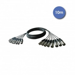 Power Acoustics CAB_2222 - Octopaires 10m - XLR 3 PIN Mâle - XLR 3 PIN Femelle