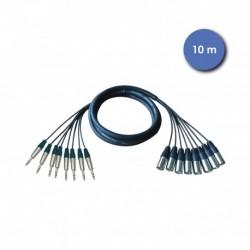 Power Acoustics CAB_2226 - Octopaires 10m - XLR 3 PIN Mâle - JACK STEREO Mâle