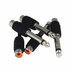 Power Acoustics CON-2006 - Adaptateur Jack 6,35 RCA Femelle