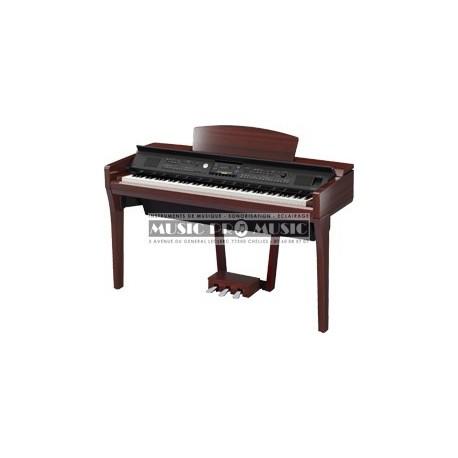 Yamaha CVP609PM - Piano numérique arrangeur acajou laqué avec meuble