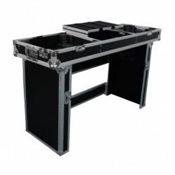 Power Acoustics FC_TURNTA_MIX - Flight-case régie pour mixer 19 + 2 platines + plateau