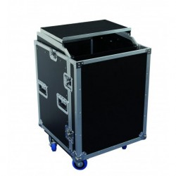 Power Acoustics FCP-12-U-DS - Flight Case 12 U+Plan incliné+Plateau