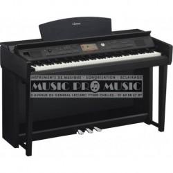 Yamaha CVP-705B - Piano numérique arrangeur noir satiné avec meuble