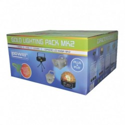 Power Lighting GOLD-PACK-MK2 - Pack: 1 laser + 1 maf + 1 derby + 1 sphero magik led