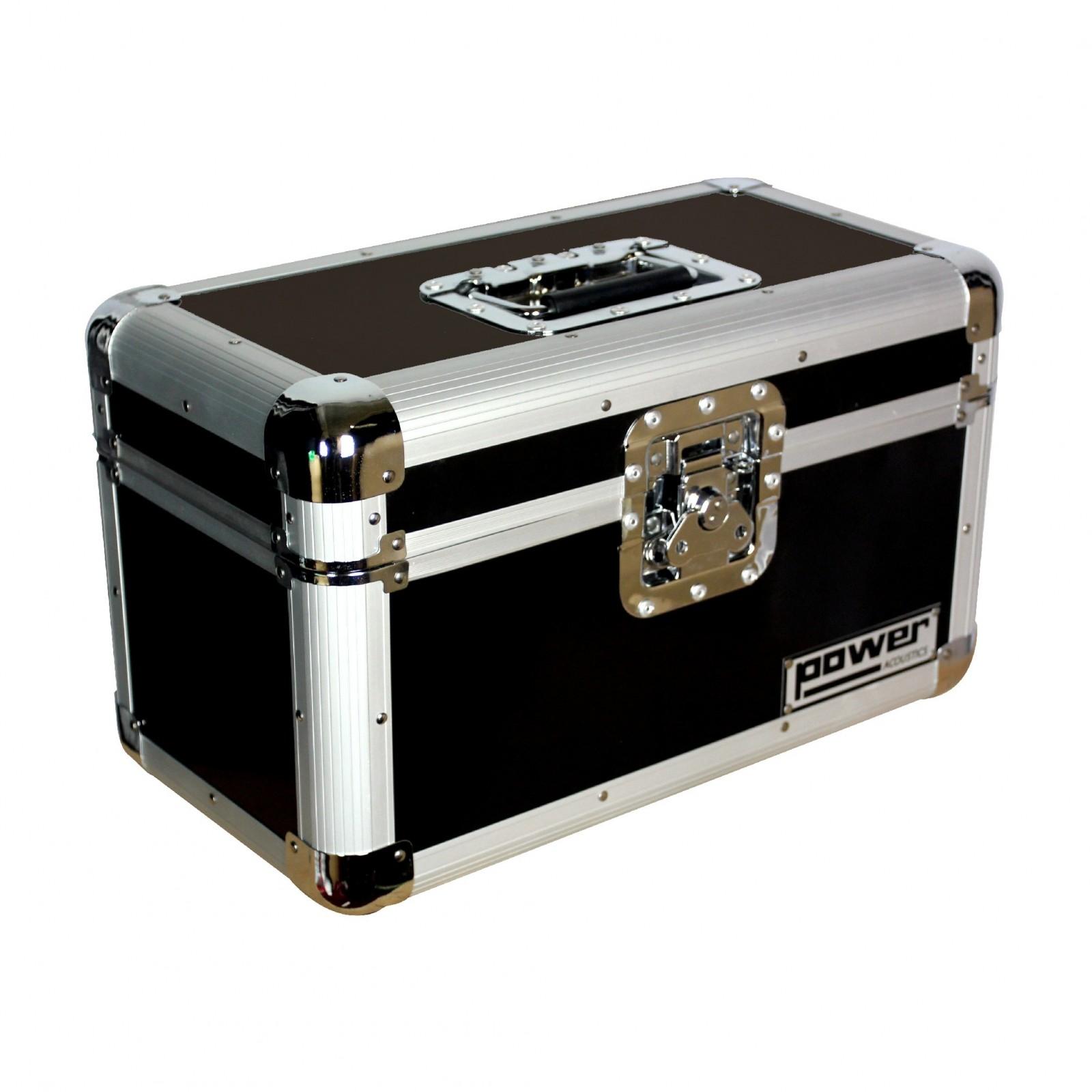 Rangement Vinyl 45 Tours power acoustics fl rec45 120 - valise rangement 120 vinyles