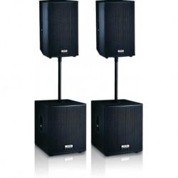 Definitive Audio FUSION 2000 - Ensemble 2xM215A + 2xM118A