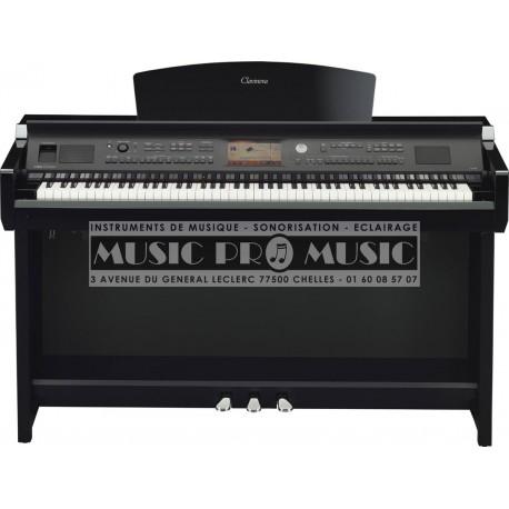 Yamaha CVP705PE - Piano numérique arrangeur noir laqué avec meuble