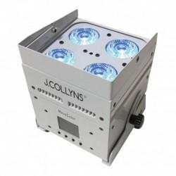 J.Collyns MOVECOLOR_WH - Par à Leds blanc sur batterie