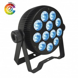 Power Lighting PAR_12X10W_QU - Par Slim 12 Leds de 10W 4-en-1