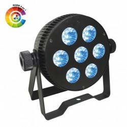 Power Lighting PAR_7X10W_QU - Par Slim 7 Leds de 10W 4-en-1