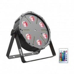 Power Lighting PARSL-6X9ALL - Par Slim 6 Leds de 9W RGB + Laser + Strobe