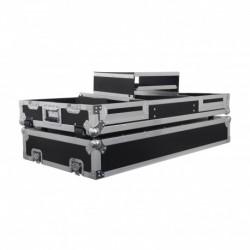 Power Acoustics PCDM 2000 DS NXS - Flight case pour 2 CDJ 900 NEXUS / 2000 NEXUS + DJM 2000 NEXUS ou Mixeur 19''