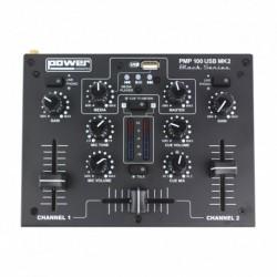 Power Acoustics PMP 100 USB MK2 - Mixer 3 entrées avec USB player