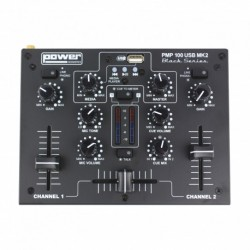 Power Acoustics PMP100USB-MK2 - Mixer 3 entrées avec USB player