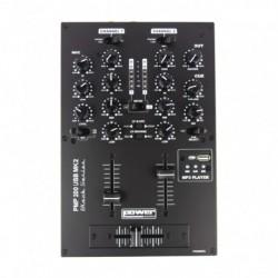 Power Acoustics PMP 200 USB MK2 - Mixer 5 entrées avec USB player
