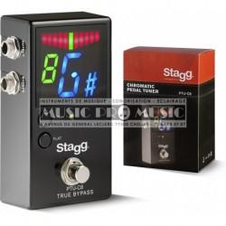 Stagg PTU-C8 - Pédale accordeur chromatique automatique pour guitare basse et autres instruments