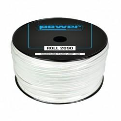 Power Acoustics ROLL 2090 - Rouleau Câble HP Blanc 1,5mm² - 100m