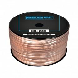 Power Acoustics ROLL 2091 - Rouleau Câble HP HIFI 2 x 4.0mm² - 50m