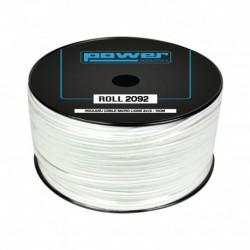 Power Acoustics ROLL 2092 - Rouleau Câble micro ligne blanc 2 x 1,5mm² - 100m