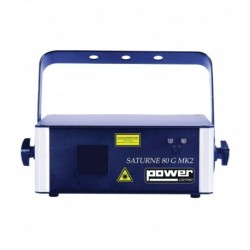 Power Lighting SAT_80G_MK2 - Laser à animations Vert 80MW DMX ILDA