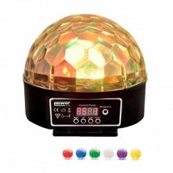 Power Lighting SPHERO MAGIK LED MK2 BLACK - Demie sphère à led 6x3W RGBWAP - finition noire