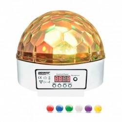 Power Lighting SPHERO MAGIK LED MK2 WHITE - Demie sphère à led 6x3W RGBWAP - finition blanche