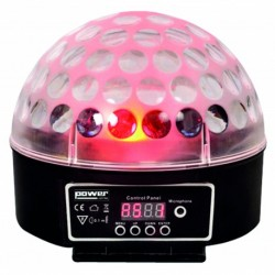 Power Lighting SPHERO-MK2-BL - Demie sphère à led 9x3W RGBWAPPYP - finition noire