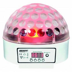 Power Lighting SPHERO-MK2-WH - Demie sphère à led 9x3W RGBWAPPYP - finition blanche