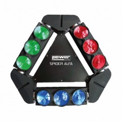 Power Lighting SPIDER-ALFA - Effet lighting 9x12W led CREE