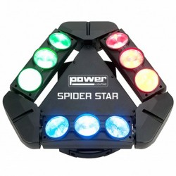 Power Lighting SPIDER-STAR - Effet à led RGBW 9x12W CREE