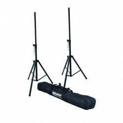 Power Acoustics SPK 400 - Ensemble 2 Pieds HP Acier + Housse