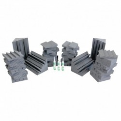 Power Studio STUD_FOA_68 - Pack 32 FOAM 30 + 32 FOAM 40 + 4 FOAM BASS 60 + 3 colles